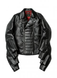eight arms leather riders jacket
