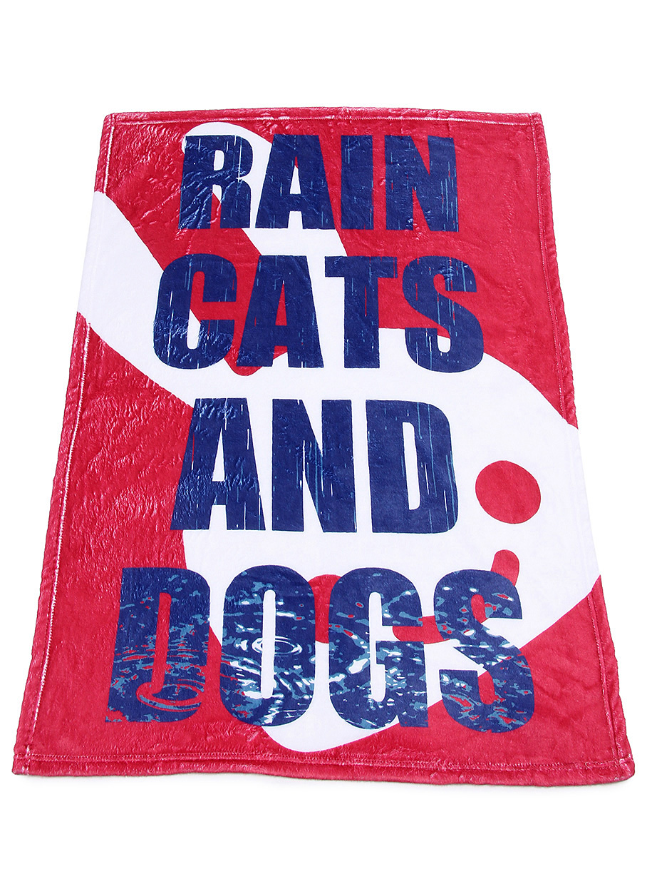 ブランケット RAIN CATS AND DOGS